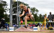 5 September 2020; Maeve Hayes of St Pauls AC, Wexford, competing in the Junior Women's High Jump event during the Irish Life Health National Junior Track and Field Championships at Morton Stadium in Santry, Dublin. Photo by Sam Barnes/Sportsfile