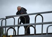 5 September 2020; A spectator looks on during the Tyrone County Senior Football Championship Semi-Final match between Trillick St. Macartan's and Na Fianna Coalisland at Healy Park in Omagh, Tyrone. Photo by David Fitzgerald/Sportsfile