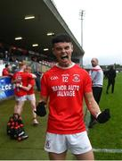 5 September 2020; Ryan Gray of Trillick St. Macartan's celebrates following the Tyrone County Senior Football Championship Semi-Final match between Trillick St. Macartan's and Na Fianna Coalisland at Healy Park in Omagh, Tyrone. Photo by David Fitzgerald/Sportsfile