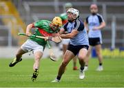 5 September 2020; Evan Sweeney of Loughmore-Castleiney in action against Dáire Quinn of Nenagh Éire Óg during the Tipperary County Senior Hurling Championship Semi-Final match between Nenagh Éire Óg and Loughmore/Castleiney at Semple Stadium in Thurles, Tipperary. Photo by Piaras Ó Mídheach/Sportsfile