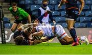 5 September 2020; Rob Herring of Ulster scores his side's second try during the Guinness PRO14 Semi-Final match between Edinburgh and Ulster at BT Murrayfield Stadium in Edinburgh, Scotland. Photo by Bill Murray/Sportsfile