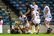 5 September 2020; Rob Herring of Ulster celebrates after scoring his side's second try during the Guinness PRO14 Semi-Final match between Edinburgh and Ulster at BT Murrayfield Stadium in Edinburgh, Scotland. Photo by Bill Murray/Sportsfile