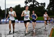 5 September 2020; Oisin Davis of Craughwell AC, centre, and Patrick Noonan of Craughwell AC, Galway, competing in the Junior Men's 1500m event during the Irish Life Health National Junior Track and Field Championships at Morton Stadium in Santry, Dublin. Photo by Sam Barnes/Sportsfile