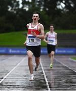 5 September 2020; Robert McDonnell of Galway City Harriers AC, on his way to winning the Junior Men's 400m event during the Irish Life Health National Junior Track and Field Championships at Morton Stadium in Santry, Dublin. Photo by Sam Barnes/Sportsfile