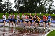 5 September 2020; A general view of the field during the Junior Men's 1500m event during the Irish Life Health National Junior Track and Field Championships at Morton Stadium in Santry, Dublin. Photo by Sam Barnes/Sportsfile