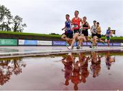 5 September 2020; Tadgh Donnelly of Drogheda and District AC, Louth, centre, leads the field during the Junior Men's 1500m event during the Irish Life Health National Junior Track and Field Championships at Morton Stadium in Santry, Dublin. Photo by Sam Barnes/Sportsfile