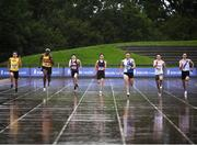 5 September 2020; A general view during the Men's 200m heats during the Irish Life Health National Junior Track and Field Championships at Morton Stadium in Santry, Dublin. Photo by Sam Barnes/Sportsfile