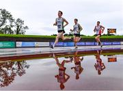 5 September 2020; Oisin Davis of Craughwell AC, left, and Patrick Noonan of Craughwell AC, lead the field whilst competing in the Junior Men's 1500m event during the Irish Life Health National Junior Track and Field Championships at Morton Stadium in Santry, Dublin. Photo by Sam Barnes/Sportsfile