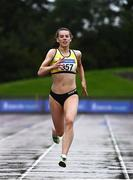 5 September 2020; Lauren McCourt of Bandon AC, Cork, centre, on her way to winning the Junior Women's 400m event during the Irish Life Health National Junior Track and Field Championships at Morton Stadium in Santry, Dublin. Photo by Sam Barnes/Sportsfile