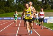 6 September 2020; David Clarke of North Belfast Harriers, competing in the M60 Men's 1500m event during the Irish Life Health National Masters Track and Field Championships at Morton Stadium in Santry, Dublin. Photo by Sam Barnes/Sportsfile