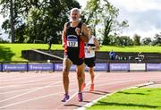 6 September 2020; Martin Kelly of Menapians AC, Wexford, competing in the M65 Men's 1500m event during the Irish Life Health National Masters Track and Field Championships at Morton Stadium in Santry, Dublin. Photo by Sam Barnes/Sportsfile