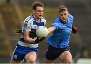5 September 2020; Matthew Ruane of Breaffy in action against Brian McDermott of Westport during the Mayo County Senior Football Championship Semi-Final match between Breaffy and Westport at Elvery's MacHale Park in Castlebar, Mayo. Photo by Brendan Moran/Sportsfile