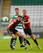 5 September 2020; Ronan Finn of Shamrock Rovers in action against Keith Buckley, front, and Kris Twardek of Bohemians during the SSE Airtricity League Premier Division match between Shamrock Rovers and Bohemians at Tallaght Stadium in Dublin. Photo by Seb Daly/Sportsfile