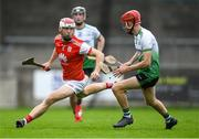 6 September 2020; Con O'Callaghan of Cuala in action against Alan Murphy of Lucan Sarsfields during the Dublin County Senior Hurling Championship Semi-Final match between Lucan Sarsfields and Cuala at Parnell Park in Dublin. Photo by Piaras Ó Mídheach/Sportsfile
