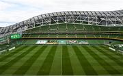 6 September 2020; A general view of the pitch and stadium prior to the UEFA Nations League B match between Republic of Ireland and Finland at the Aviva Stadium in Dublin. Photo by Seb Daly/Sportsfile