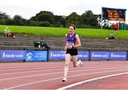 6 September 2020; Anne Gilshinan of Slaney Olympic AC, Antrim, competing in the F55 Women's 3000m  event during the Irish Life Health National Masters Track and Field Championships at Morton Stadium in Santry, Dublin. Photo by Sam Barnes/Sportsfile