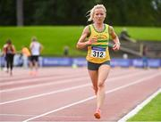 6 September 2020; Ciara Hickey of Brothers Pearse AC, Dublin, competing in the F40 Women's 3000m event during the Irish Life Health National Masters Track and Field Championships at Morton Stadium in Santry, Dublin. Photo by Sam Barnes/Sportsfile