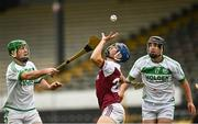 6 September 2020; Paul Cody of Clara in action against Eoin Cody, left, and Peter Nolan of Clara during the Kilkenny County Senior Hurling Championship Quarter-Final match between Clara and Ballyhale Shamrocks at UPMC Nowlan Park in Kilkenny. Photo by Harry Murphy/Sportsfile