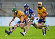 6 September 2020; Conor McHugh of Na Fianna, supported by team-mate Seán Burke, in action against Conal Keaney of Ballyboden St Enda's during the Dublin County Senior Hurling Championship Semi-Final match between Ballyboden St Enda's and Na Fianna at Parnell Park in Dublin. Photo by Piaras Ó Mídheach/Sportsfile