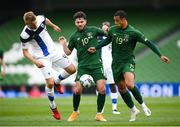6 September 2020; Robbie Brady of Republic of Ireland, supported by team-mate Adam Idah, right, in action against Juhani Ojala of Finland during the UEFA Nations League B match between Republic of Ireland and Finland at the Aviva Stadium in Dublin. Photo by Stephen McCarthy/Sportsfile