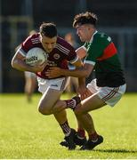 6 September 2020; Christopher McGuinness of Ballybay in action against Seamus Kindlon of Inniskeen during the Monaghan County Senior Football Championship Semi-Final between Ballybay Pearse Brothers and Inniskeen at St Tiernach's Park in Clones, Monaghan. Photo by Philip Fitzpatrick/Sportsfile