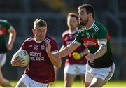 6 September 2020; Patrick O'Neill of Ballybay in action against Matthew McKenna of Inniskeen during the Monaghan County Senior Football Championship Semi-Final between Ballybay Pearse Brothers and Inniskeen at St Tiernach's Park in Clones, Monaghan. Photo by Philip Fitzpatrick/Sportsfile
