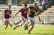 6 September 2020; Ryan Wylie of Ballybay in action against Andrew Woods of Inniskeen during the Monaghan County Senior Football Championship Semi-Final between Ballybay Pearse Brothers and Inniskeen at St Tiernach's Park in Clones, Monaghan. Photo by Philip Fitzpatrick/Sportsfile