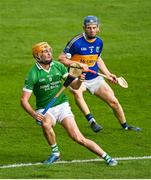 6 September 2020; Seamus Callanan of Drom & Inch in action against James Quigley of Kiladangan during the Tipperary County Senior Hurling Championship Semi-Final match between Kiladangan and Drom & Inch at Semple Stadium in Thurles, Tipperary. Photo by Ramsey Cardy/Sportsfile