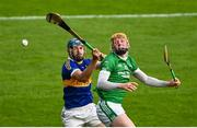 6 September 2020; Joey Maher of Drom & Inch in action against Fergie Hayes of Kiladangan during the Tipperary County Senior Hurling Championship Semi-Final match between Kiladangan and Drom & Inch at Semple Stadium in Thurles, Tipperary. Photo by Ramsey Cardy/Sportsfile