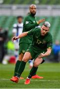 6 September 2020; Aaron Connolly of Republic of Ireland reacts following a chance to score during the UEFA Nations League B match between Republic of Ireland and Finland at the Aviva Stadium in Dublin. Photo by Seb Daly/Sportsfile