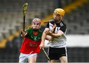 6 September 2020; Eoin Guilfoyle of James Stephen's in action against Robert Malone of Mullinavat during the Kilkenny County Senior Hurling Championship Quarter-Final match between James Stephen's and Mullinavat at UPMC Nowlan Park in Kilkenny. Photo by Harry Murphy/Sportsfile