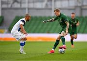 6 September 2020; James McClean of Republic of Ireland in action against Nikolai Alho of Finland during the UEFA Nations League B match between Republic of Ireland and Finland at the Aviva Stadium in Dublin. Photo by Seb Daly/Sportsfile