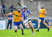 6 September 2020; Conal Keaney of Ballyboden St Enda's in action against Conor McHugh of Na Fianna during the Dublin County Senior Hurling Championship Semi-Final match between Ballyboden St Enda's and Na Fianna at Parnell Park in Dublin. Photo by Piaras Ó Mídheach/Sportsfile