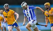 6 September 2020; Seán McDonnell of Ballyboden St Enda's gets past Eoghan McHugh, left, and Seán Burke of Na Fianna during the Dublin County Senior Hurling Championship Semi-Final match between Ballyboden St Enda's and Na Fianna at Parnell Park in Dublin. Photo by Piaras Ó Mídheach/Sportsfile