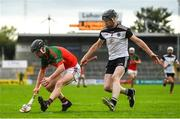 6 September 2020; Tadgh Dwyer of James Stephen's in action against Michael Malone of Mullinavat during the Kilkenny County Senior Hurling Championship Quarter-Final match between James Stephen's and Mullinavat at UPMC Nowlan Park in Kilkenny. Photo by Harry Murphy/Sportsfile