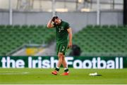 6 September 2020; Enda Stevens of Republic of Ireland following his side's defeat during the UEFA Nations League B match between Republic of Ireland and Finland at the Aviva Stadium in Dublin. Photo by Seb Daly/Sportsfile