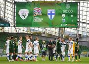 6 September 2020; A view of the scoreboard following the UEFA Nations League B match between Republic of Ireland and Finland at the Aviva Stadium in Dublin. Photo by Seb Daly/Sportsfile