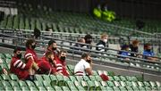 4 September 2020; Munster substitutes during the Guinness PRO14 Semi-Final match between Leinster and Munster at the Aviva Stadium in Dublin. Photo by David Fitzgerald/Sportsfile