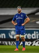 4 September 2020; Caelan Doris of Leinster during the Guinness PRO14 Semi-Final match between Leinster and Munster at the Aviva Stadium in Dublin. Photo by David Fitzgerald/Sportsfile