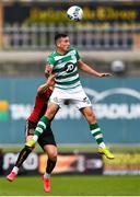 5 September 2020; Aaron McEneff of Shamrock Rovers in action against Andy Lyons of Bohemians during the SSE Airtricity League Premier Division match between Shamrock Rovers and Bohemians at Tallaght Stadium in Dublin. Photo by Eóin Noonan/Sportsfile