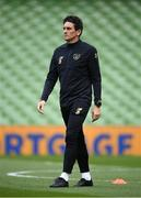 6 September 2020; Republic of Ireland coach Keith Andrews during the UEFA Nations League B match between Republic of Ireland and Finland at the Aviva Stadium in Dublin. Photo by Stephen McCarthy/Sportsfile