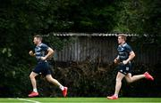 7 September 2020; Fergus McFadden, left, and Dan Leavy during Leinster Rugby squad training session at UCD in Dublin. Photo by Ramsey Cardy/Sportsfile