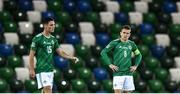 7 September 2020; Steven Davis, right, and Jordan Thompson of Northern Ireland after conceding a fourth goal during the UEFA Nations League B match between Northern Ireland and Norway at the National Football Stadium at Windsor Park in Belfast. Photo by David Fitzgerald/Sportsfile