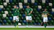 7 September 2020; Steven Davis, left, and Jordan Thompson of Northern Ireland after conceding a 5th goal during the UEFA Nations League B match between Northern Ireland and Norway at the National Football Stadium at Windsor Park in Belfast. Photo by David Fitzgerald/Sportsfile