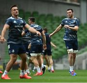 11 September 2020; James Ryan during the Leinster Rugby captains run at the Aviva Stadium in Dublin. Photo by Ramsey Cardy/Sportsfile