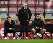 11 September 2020; Waterford manager John Sheridan with coaches Fran Rockett, left, and John Frost, right, during the SSE Airtricity League Premier Division match between Bohemians and Waterford at Dalymount Park in Dublin. Photo by Stephen McCarthy/Sportsfile