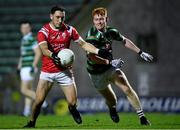11 September 2020; Paudie Clifford of East Kerry in action against Brandon Barrett of St Brendan's during the Kerry County Senior Football Championship Semi-Final match between East Kerry and St Brendan's at Austin Stack Park in Tralee, Kerry. Photo by Piaras Ó Mídheach/Sportsfile