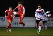 11 September 2020; Mark Byrne of Shelbourne in action against Darragh Leahy of Dundalk during the SSE Airtricity League Premier Division match between Dundalk and Shelbourne at Oriel Park in Dundalk, Louth. Photo by Ben McShane/Sportsfile