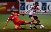 11 September 2020; Stefan Colovic of Dundalk and Alex O'Hanlon of Shelbourne during the SSE Airtricity League Premier Division match between Dundalk and Shelbourne at Oriel Park in Dundalk, Louth. Photo by Ben McShane/Sportsfile