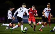 11 September 2020; Sean Quinn of Shelbourne and Dundalk players, from left, Sean Murray, Darragh Leahy and Greg Sloggett during the SSE Airtricity League Premier Division match between Dundalk and Shelbourne at Oriel Park in Dundalk, Louth. Photo by Ben McShane/Sportsfile